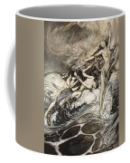 The Rhinemaidens Obtain Possession Of The Ring And Bear It Off In Triumph Coffee Mug by Arthur Rackham