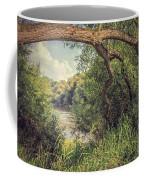 The River Severn At Buildwas Coffee Mug by Amanda Elwell