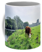 The River Suir County Tipperary Ireland In Front Of Ruins Of Mediaeval Athassel Augustinian Priory Coffee Mug