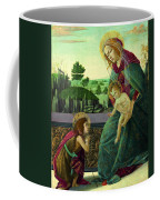 The Rockefeller Madonna. Madonna And Child With Young Saint John The Baptist Coffee Mug