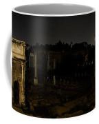 The Roman Forum At Night Coffee Mug