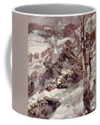 The Russians Fighting Their Way Over The Carpathians Coffee Mug