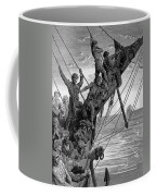 The Sailors See In The Distance A Ghostly Ship Coffee Mug by Gustave Dore