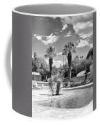The Sandpiper Pool Bw Palm Desert Coffee Mug by William Dey