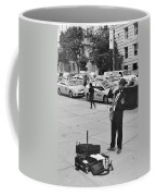 The Saxman In Black And White Coffee Mug