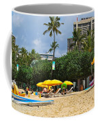 The Scene At Waikiki Beach Coffee Mug
