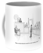 The Scene Is A Courtroom. A Lawyer Is Looking Coffee Mug by Paul Noth