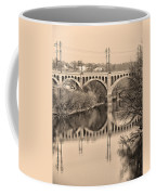 The Schuylkill River And Manayunk Bridge In Sepia Coffee Mug