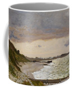 The Seashore At Sainte Adresse Coffee Mug