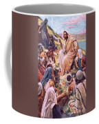 The Sermon On The Mount Coffee Mug by Harold Copping