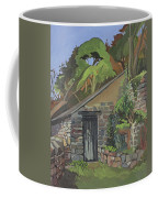 The Shed, Clovelly Oil On Board Coffee Mug