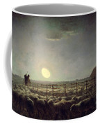 The Sheepfold   Moonlight Coffee Mug by Jean Francois Millet