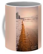 The Shore In Winter Coffee Mug