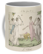 The Shuttlecock, Plate 11 From Le Bon Coffee Mug by French School