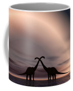 The Silhouetted Forms Of A Pair Coffee Mug