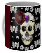 The Skull Is In Love With Cupidos Coffee Mug