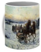 The Sleigh Ride Coffee Mug by Alfred von Wierusz Kowalski
