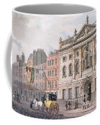 The South Front Of Ironmongers Hall, From R. Ackermanns Repository Of Arts 1811 Colour Litho Coffee Mug