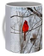 Blue Eyes In The Snow Cardinal  Coffee Mug