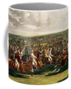 The Start Of The Memorable Derby Of 1844 Coffee Mug by Charles Hunt