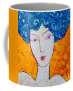 The Strength Of Grace Expressionist Girl Portrait Coffee Mug by Ana Maria Edulescu