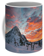 The Sun Rises, Illuminating The Sky Coffee Mug