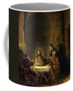 The Supper At Emmaus, 1648 Oil On Panel Coffee Mug