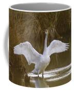 The Swan Spreads Its Wimgs Coffee Mug