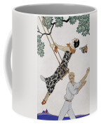 The Swing Coffee Mug by Georges Barbier