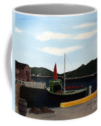 The Tekakwitha - Black Schooner Coffee Mug