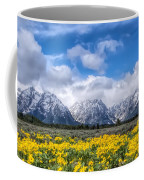 The Teton Mountain Range In The Spring Grand Teton National Park Coffee Mug