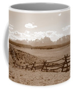 The Tetons In Sepia Coffee Mug