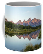 The Tetons Reflected On Schwabachers Landing - Grand Teton National Park Wyoming Coffee Mug