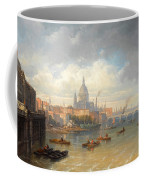 The Thames With Somerset House And St Pauls Cathedral Coffee Mug