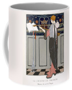 The Theorbo Player Coffee Mug by Georges Barbier