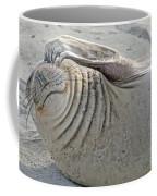 The Thinker - Elephant Seal On The Beach Coffee Mug