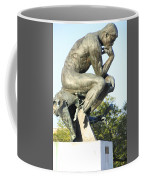 The Thinker Cleveland Art Statue Coffee Mug