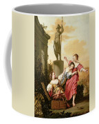 The Three Daughters Of Cecrops Discovering Erichthonius Coffee Mug