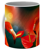 The Three Flamingos - Featured In 'feathers And Beaks' 'wildlife' And 'comfortable Art'  Groups Coffee Mug