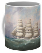 The Three-master Hahnemann In Full Sail Off A Headland Coffee Mug