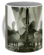 The Titanics Propellers In The Thompson Graving Dock Of Harland And Wolff Coffee Mug by English Photographer