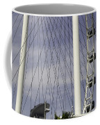 The Top Section Of The Marina Bay Sands As Seen Through The Spokes Of The Singapore Flyer Coffee Mug