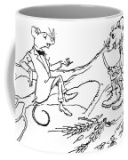 The Town Mouse And The Country Mouse Coffee Mug by Arthur Rackham