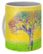 The Tree In Spring At Midday - Painterly - Abstract - Fractal Art Coffee Mug