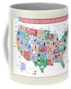 The United States Of America Map Coffee Mug