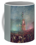 The Unveiling Of The Nicholas I Memorial In St. Petersburg Coffee Mug by Vasili Semenovich Sadovnikov