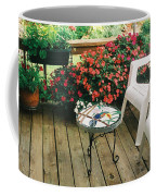 The Upper Deck With Stain Glass Table Coffee Mug