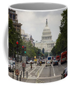 The Us Capitol Building From Pennsylvania Avenue Coffee Mug