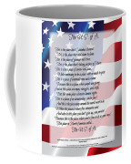 The U.s.a. Flag Poetry Art Poster Coffee Mug by Stanley Mathis