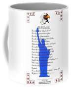 The Usa Statue Of Liberty Poetic Art Poster Coffee Mug by Stanley Mathis